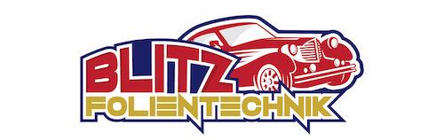 Logogestaltung fuer Blitz-Folientechnik